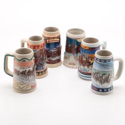 Budweiser Holiday Beer Steins, 1990s–2000s