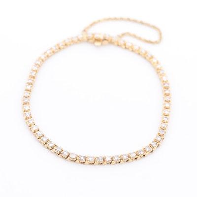 14K Yellow Gold 3.00 CTW Diamond Box Link Bracelet