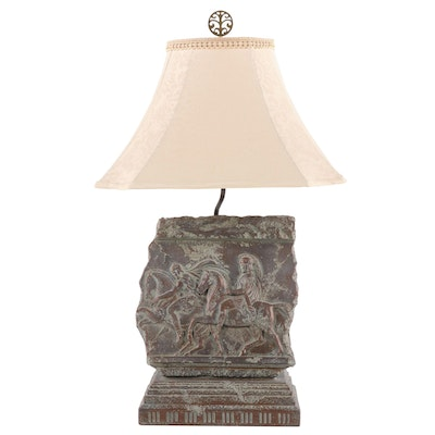 Classical Frieze Resin Table Lamp, Late 20th Century