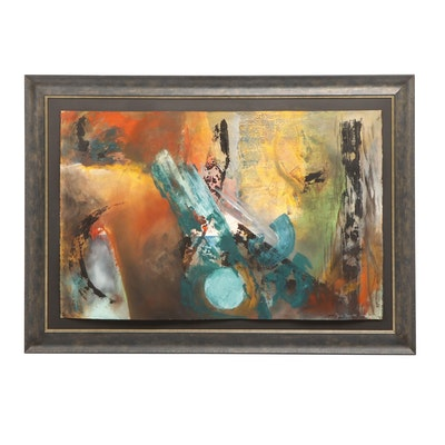 Florian Depenthal Abstract Oil Painting