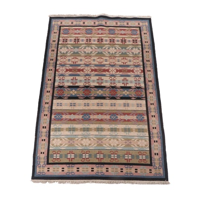 Handwoven Indian Dhurrie Flat Weave Wool Rug