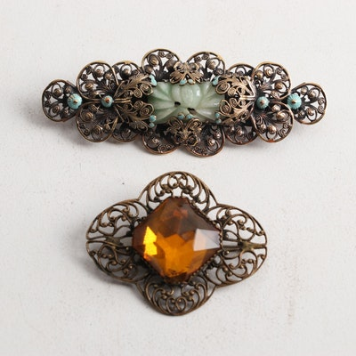 Vintage Costume Brooches