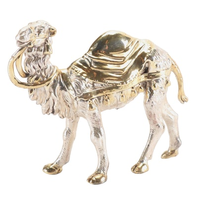 Electroplated Sterling Silver Camel Figurine