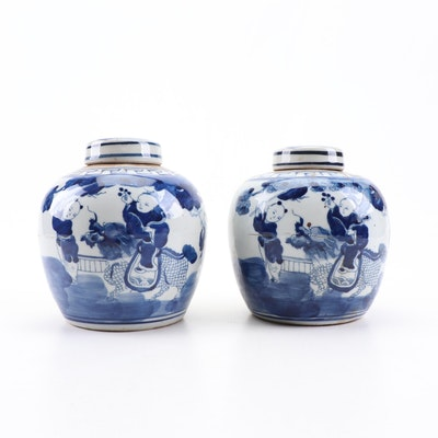 Chinese Canton Porcelain Ginger Jars