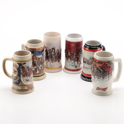 Ceramarte and BRAX for Budweiser Holiday Beer Steins, 1990s–2010s