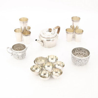 Antique Sterling, Plated and 800 Silver Tableware