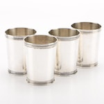 Manchester Sterling Julep Cups with Villeminot Retailer's Mark