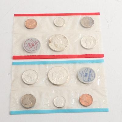 1963 and 1963-D US Mint Sets