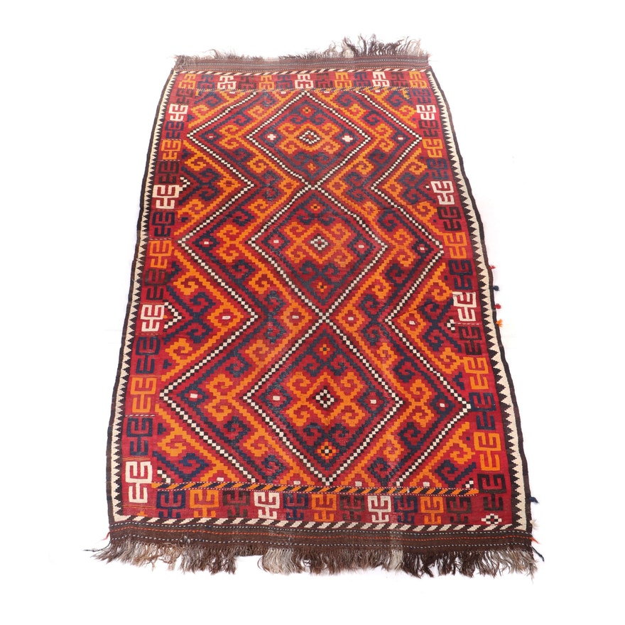 Handwoven Turkish Anatolian Wool Kilim Rug