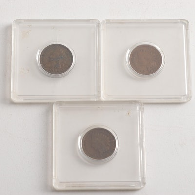 Indian Head One Cent Coins Including 1864, 1899, and 1906