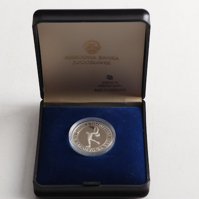 100 Dinara 1984 Winter Olympics Figure Skating Commemorative Coin