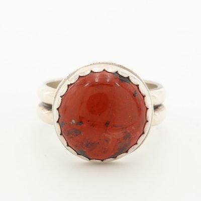 Sterling Silver Red Jasper Ring