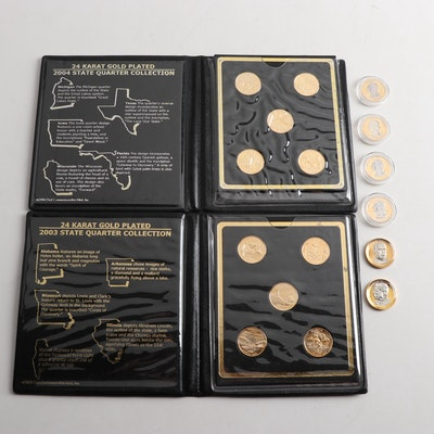 Gold Plated Statehood Quarters and Presidential Dollar Coins