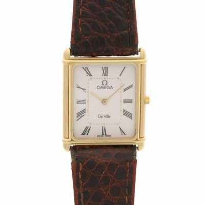 Vintage Omega DeVille Gold Tone Quartz Wristwatch