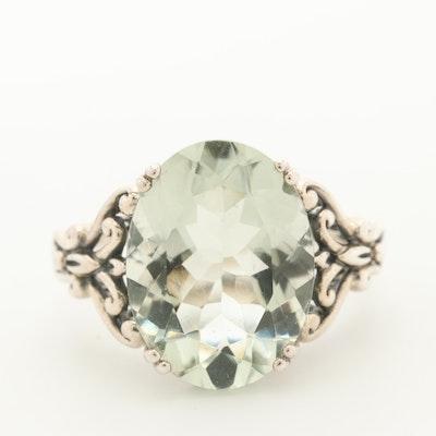 Sterling Silver Prasiolite Ring