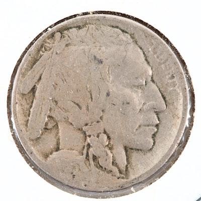 Key Date 1913-D Type 2 Buffalo Nickel