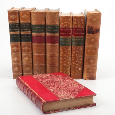 "Finely Bound Volumes Including 1850 ""Russell's Modern Europe"""