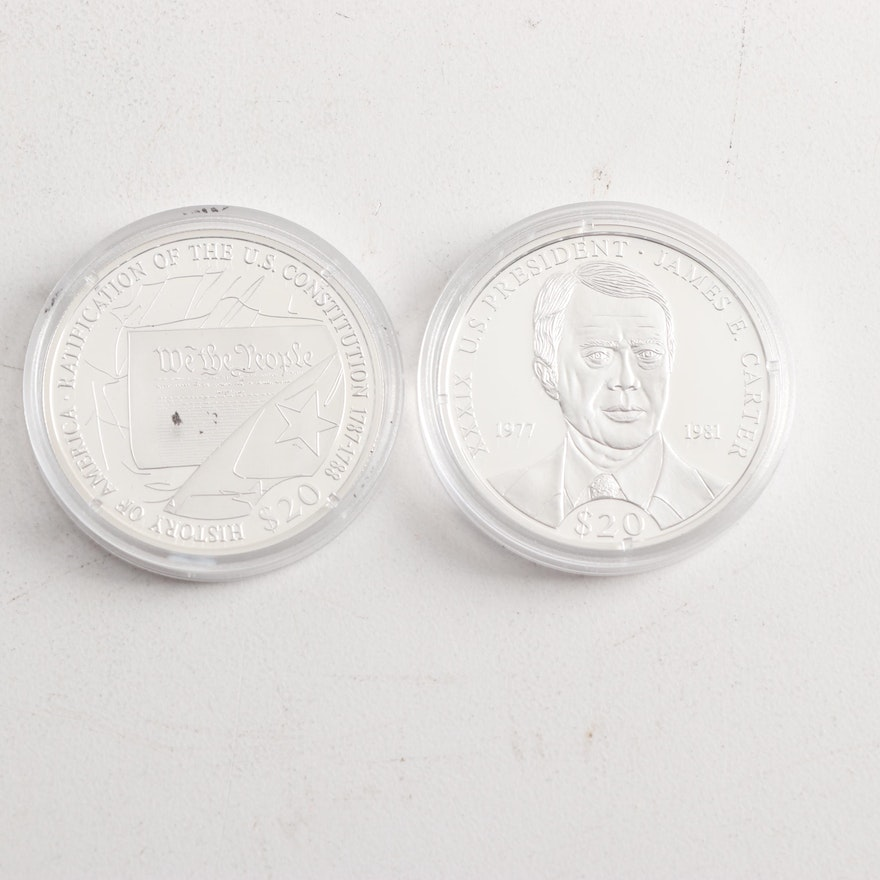 Two Commemorative Silver Proof Medals