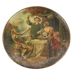 Falstaff Beer Oversized Tin Lithograph Serving Tray, Antique