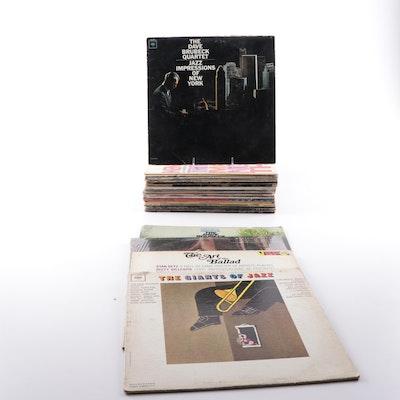 Jazz LP's Featuring Dave Brubeck, Wynton Marsalis, Stan Getz, More