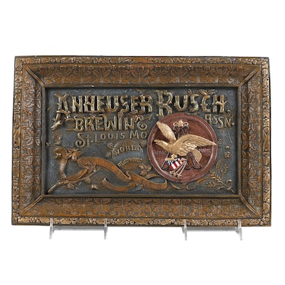Limited Edition Anheuser Busch Replica Wall Sign