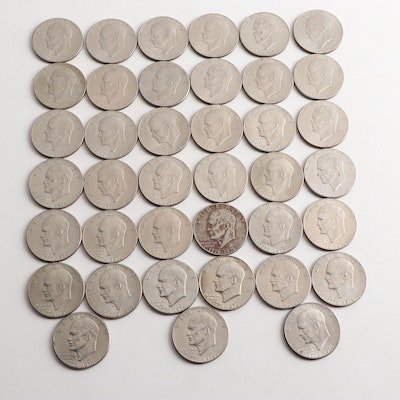 39 Eisenhower Bicentennial One Dollar Coins