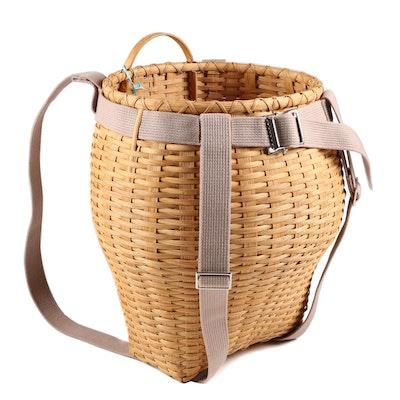 Handcrafted Oversized Backpack Gathering Basket