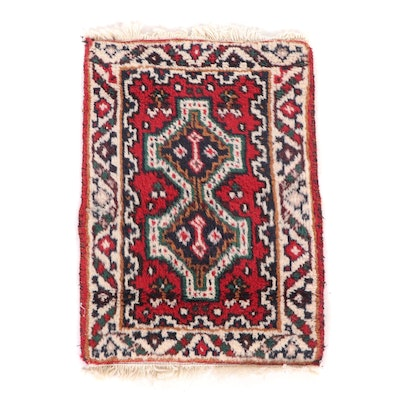Hand-Knotted Persian Shiraz Wool Accent Mat