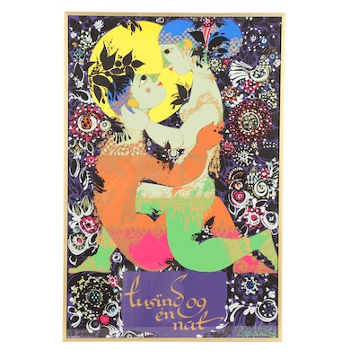 "Serigraph after Bjørn Wiinblad ""1001 Arabian Nights"""