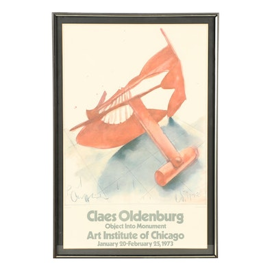 Claes Oldenburg Museum Exhibition Poster, Circa 1973