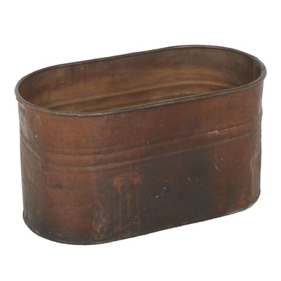 Oval Copper Boiler Pot, 19th Century