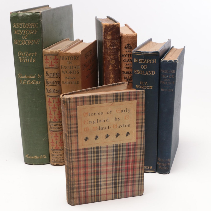 "1886 Limited Edition ""Book of Old Edinburgh"" with More British History Books"
