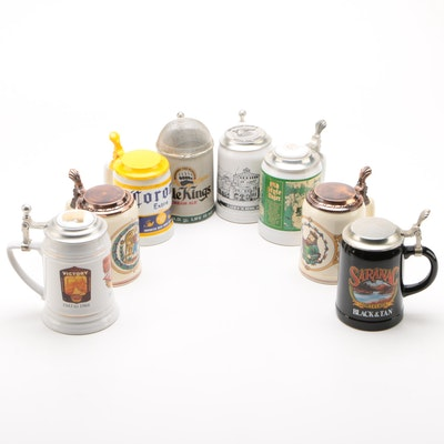 North American and European Ceramic Beer Steins, Late 20th Century