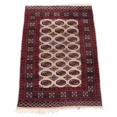 Hand-Knotted Pakistani Tekke Bokhara Wool Rug