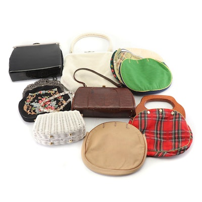 Beaded, Patent Leather, Lizard Skin, Needlepoint, Woven and More Purses, Vintage