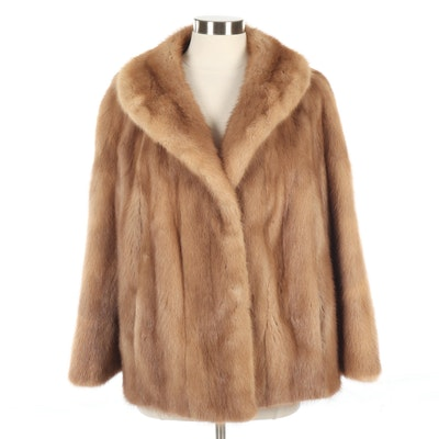 Mink Fur Jacket with Shawl Collar from A. J. Ugent, Vintage