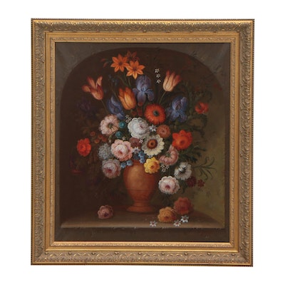 Jeannine Albert Floral Still Life Oil Painting