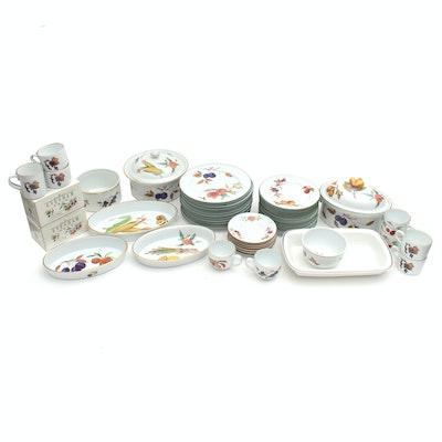 "Royal Worcester ""Evesham"" Porcelain Tableware and More"