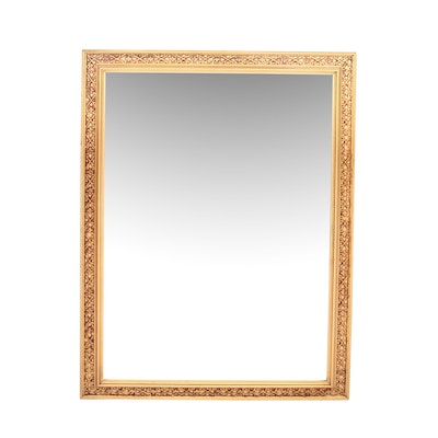 Gothic Style Gilt Framed Mirror, Mid to Late 20th Century