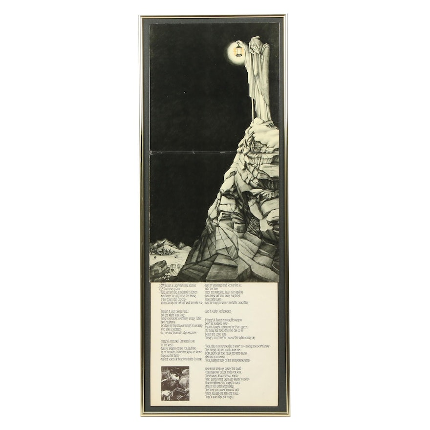"Framed Led Zeppelin ""Stairway to Heaven"" Framed Album Cover and Sleeve"