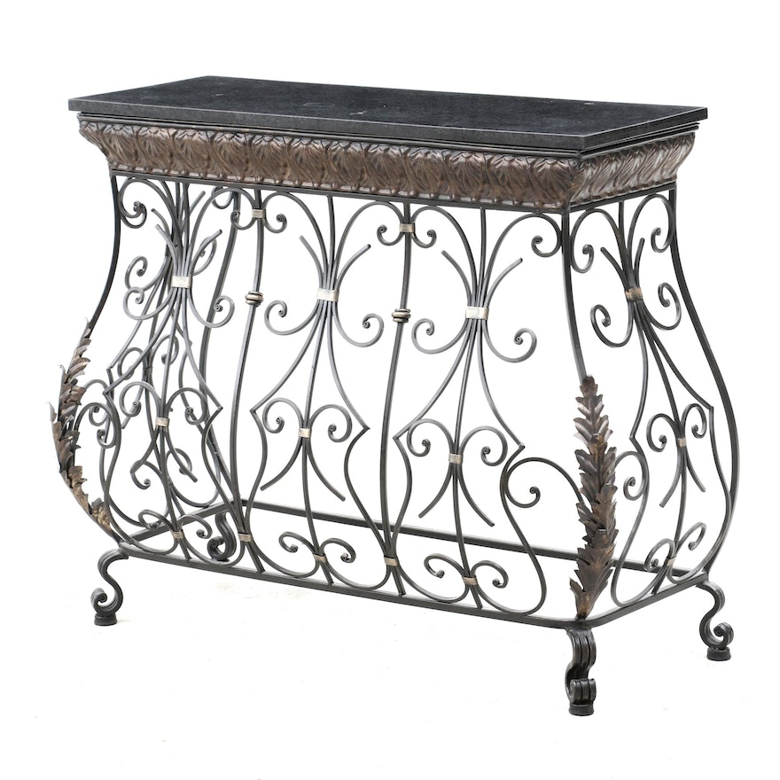 Wrought Metal Console Table, Contemporary