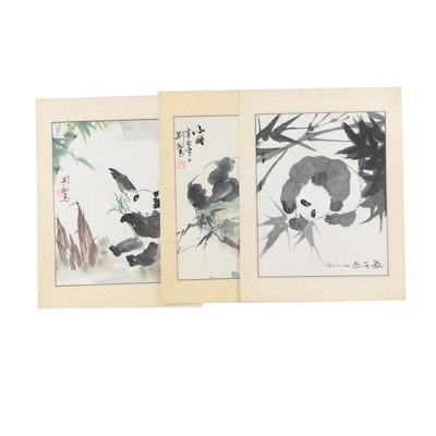 Chinese Watercolors of Pandas