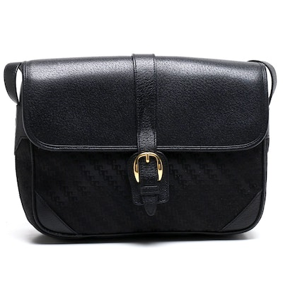 Gucci Black Canvas and Leather Shoulder Bag