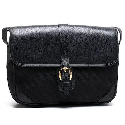 Gucci Black Canvas and Leather Shoulder Bag