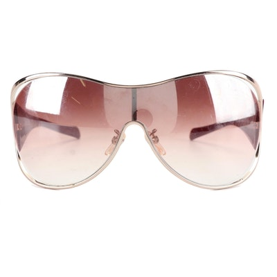 Givenchy SGV 171 Burgundy Shield Sunglasses
