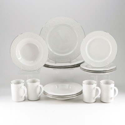 "Libbey ""Holiday Garland"" Dinnerware Set for Four"