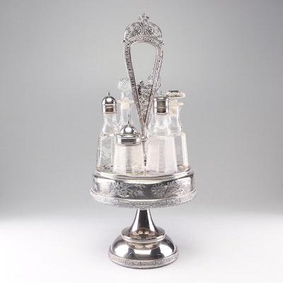 Meriden Brittania Co. Silver Plate Castor Set