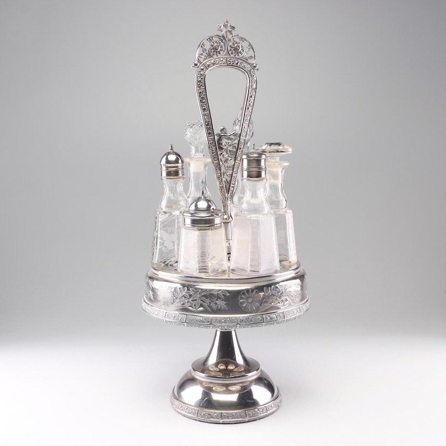 Meriden Britannia Co. Silver Plate Castor Set, Late 19th / Early 20th Century