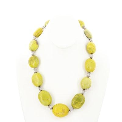 Gaspéite Beaded Necklace
