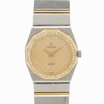 18K Gold and Stainless Steel Concord Mariner Diamond Wristwatch